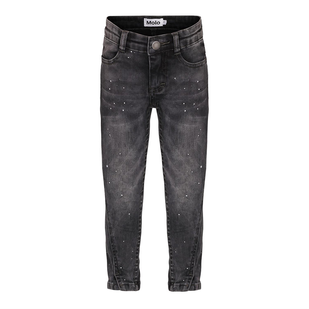 Designer Kids Fashion at Bloom Moda Online Children's Boutique - Molo Allison - Washed Black Jeans,  Pants