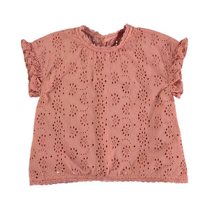 Designer Kids Fashion at Bloom Moda Online Children's Boutique - Búho Anais Embroidery Voile Blouse,  Shirt