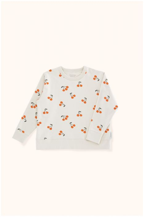 Designer Kids Fashion at Bloom Moda Online Children's Boutique - Tinycottons Cherries Fleece Sweatshirt,  Shirt