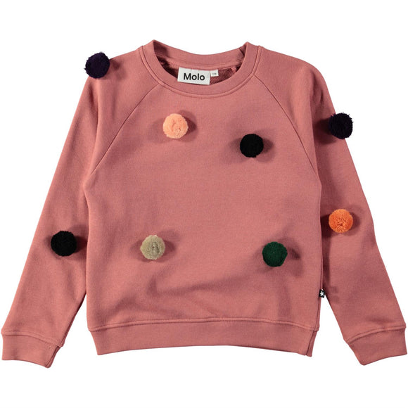 Designer Kids Fashion at Bloom Moda Online Children's Boutique - Molo Marcella Pom Pom Shirt,  Sweaters