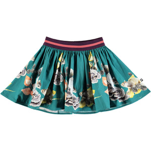 Designer Kids Fashion at Bloom Moda Online Children's Boutique - Molo Brenda Playful Squirrels Skirt,  Skirt