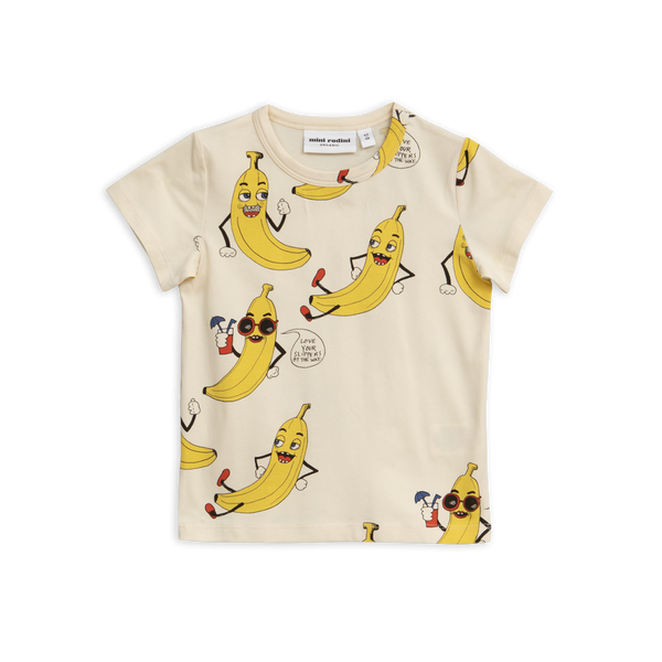 Designer Kids Fashion at Bloom Moda Online Children's Boutique - Mini Rodini Bananas Printed T-Shirt,  Shirt