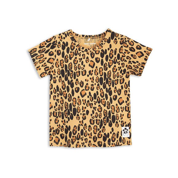 Designer Kids Fashion at Bloom Moda Online Children's Boutique - Mini Rodini Basic Leopard SS Tee,  Shirt