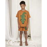 Designer Kids Fashion at Bloom Moda Online Children's Boutique - Mini Rodini Crocco Brown T-Shirt,  Shirt