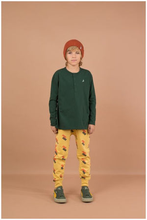 Designer Kids Fashion at Bloom Moda Online Children's Boutique - Tinycottons English Domino Fleece Pants,  Pants