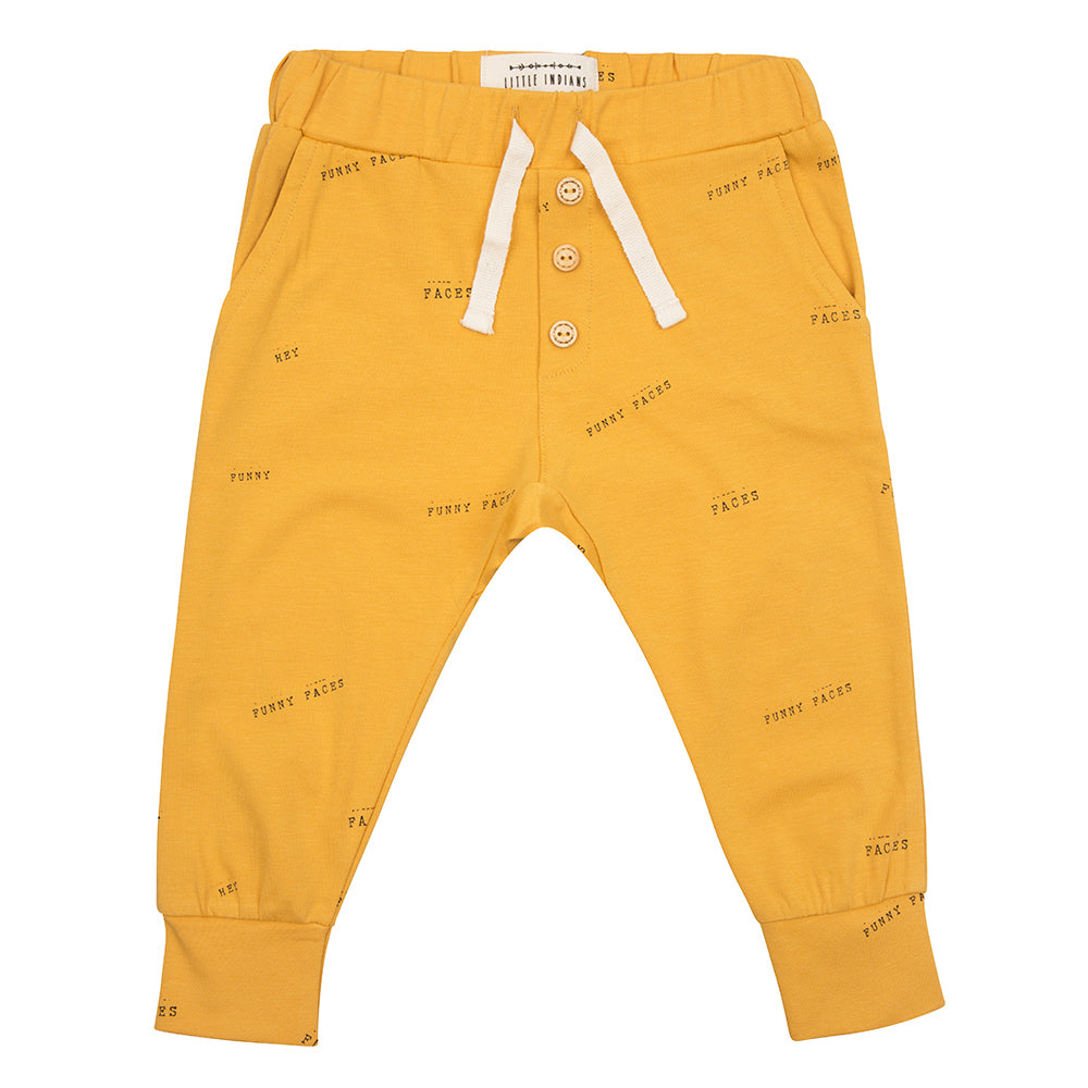 Designer Kids Fashion at Bloom Moda Online Children's Boutique - Little Indians Hey, Funny Faces Pants,  Pants