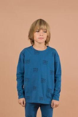 Designer Kids Fashion at Bloom Moda Online Children's Boutique - Tinycottons Fish and Chips Relaxed Shirt,  Shirt