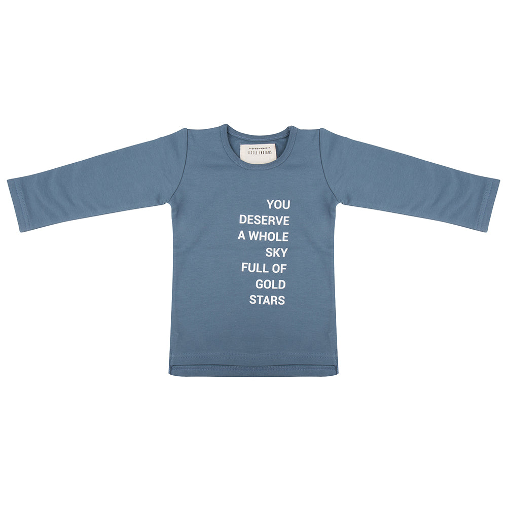 Designer Kids Fashion at Bloom Moda Online Children's Boutique - Little Indians Gold Stars Shirt,  Shirt