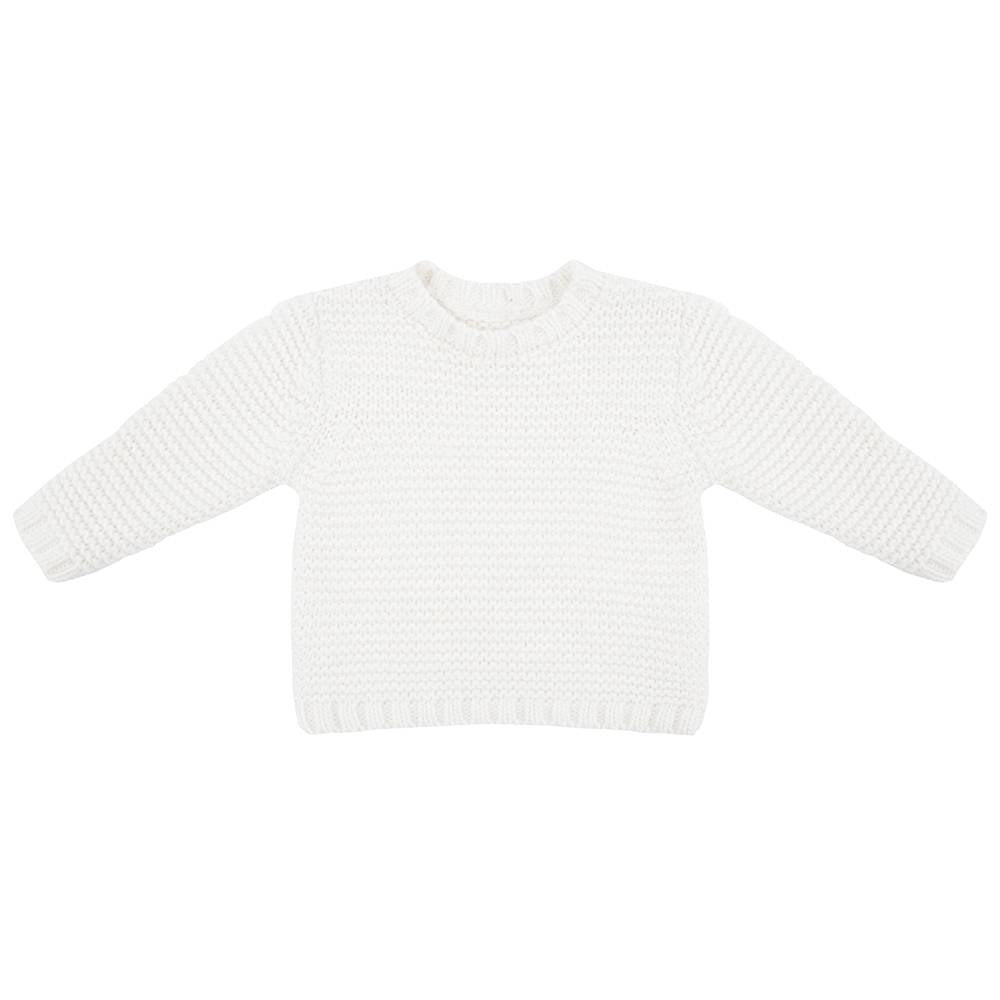 Designer Kids Fashion at Bloom Moda Online Children's Boutique - Little Indians Knit Sweater Off White,  Sweater