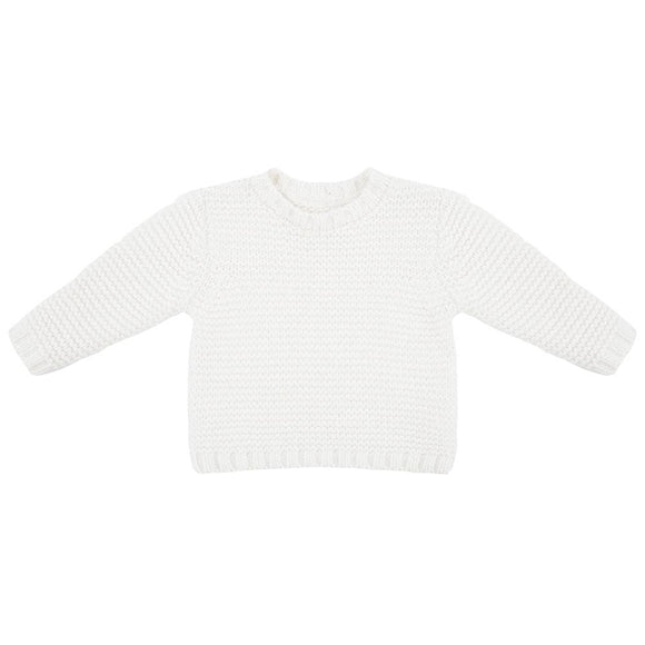Little Indians Knit Sweater Off White - Bloom Moda