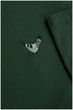 "Designer Kids Fashion at Bloom Moda Online Children's Boutique - Tinycottons ""Pigeon"" Long Sleeve Shirt,  Shirt"