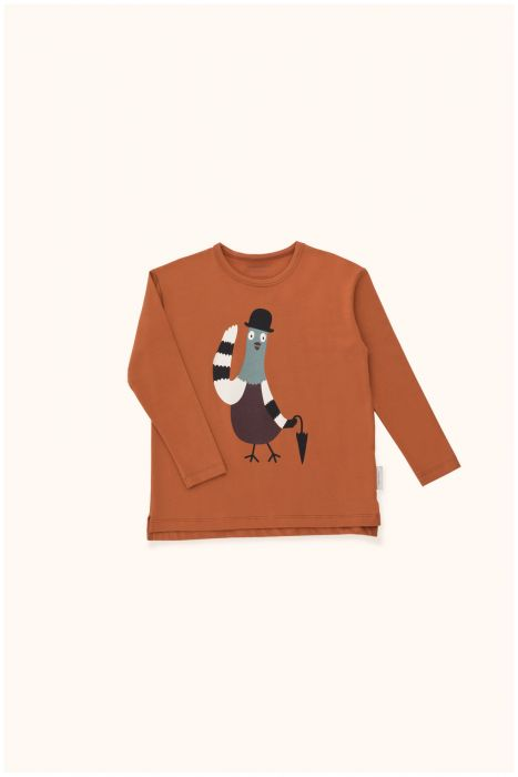 Designer Kids Fashion at Bloom Moda Online Children's Boutique - Tinycottons Pigeon Graphic Shirt,  Shirt