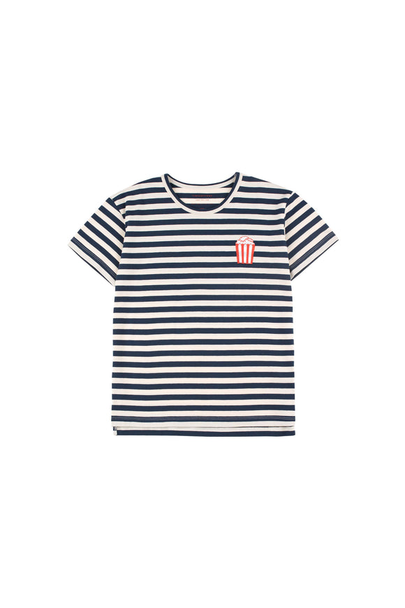 Designer Kids Fashion at Bloom Moda Online Children's Boutique - Tinycottons Popcorn Stripes Tee,  Shirt