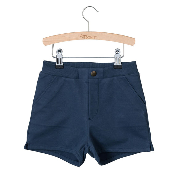 Designer Kids Fashion at Bloom Moda Online Children's Boutique - Little Hedonist Billy Shorts - Black Iris,  Shorts