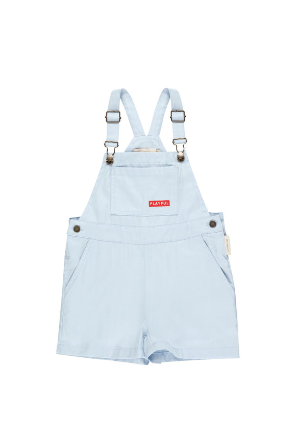 Tinycottons Playful Denim Shorts Overalls - Bloom Moda