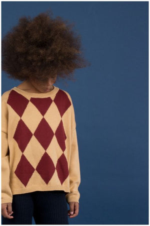 Designer Kids Fashion at Bloom Moda Online Children's Boutique - Tinycottons Rhombus Sweater,  Sweaters