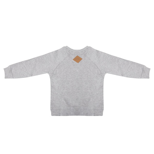 Designer Kids Fashion at Bloom Moda Online Children's Boutique - Little Indians Spaceship Sweater - Gray,  Sweater