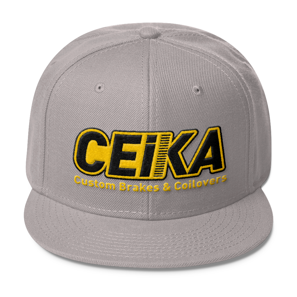 CEIKA by Otto Wool Blend Snapback Gold Logo
