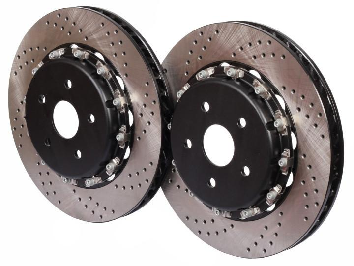 Mitsubishi Evolution IX CT9A (05~07) CEIKA 2-Piece 300x22mm Rear Disc/Rotor OEM Replacement - ceikaperformance