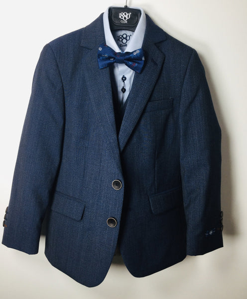 1880 CLUB BOYS NAVY/BLUE DOUBLE BREASTED WAISTCOAT