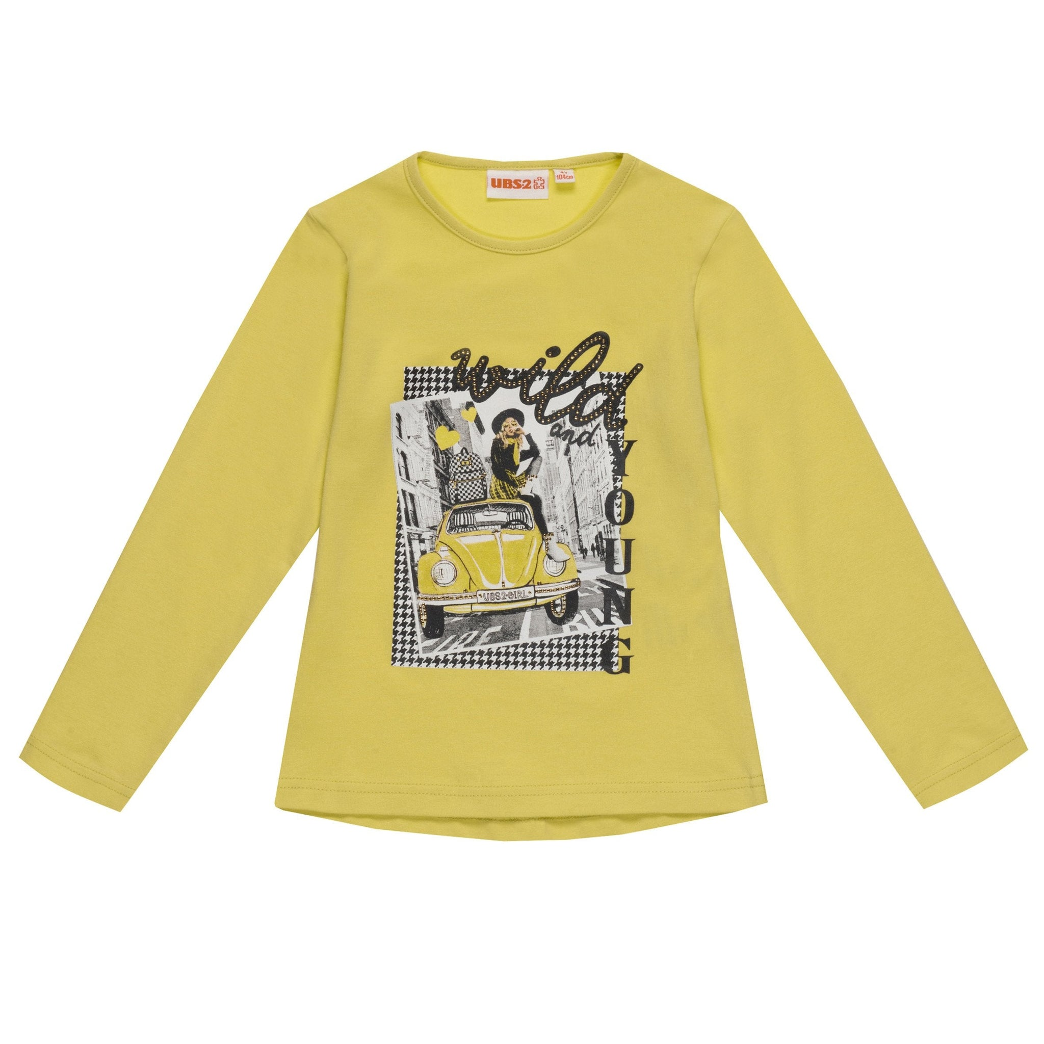 Ubs2 Girls Lime Green Long Sleeve Top Funky Kids - Magherafelt