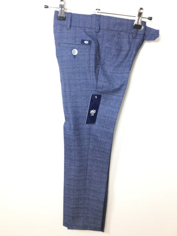 1880 CLUB BOYS NAVY CHECKED TROUSERS