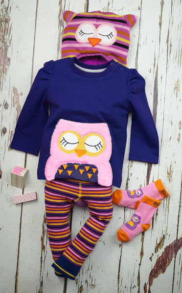 This sweet long sleeve navy top features our new super soft fleece applique owl character on the front. Funky Kids Magherafelt