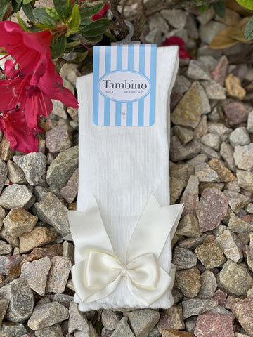 Tambino Girls Double Bow Socks Funky Kids Magherafelt