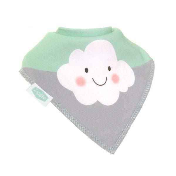 Ziggle cute cloud mint bib funky kids magherafelt