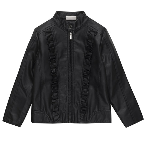 Ubs2 Girls Black Leather Jacket Funky kids - Magherafelt