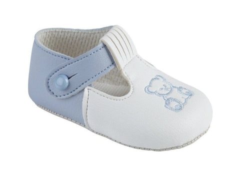 Baby Pods Boys white/blue Shoes - Funky Kids Magherafelt
