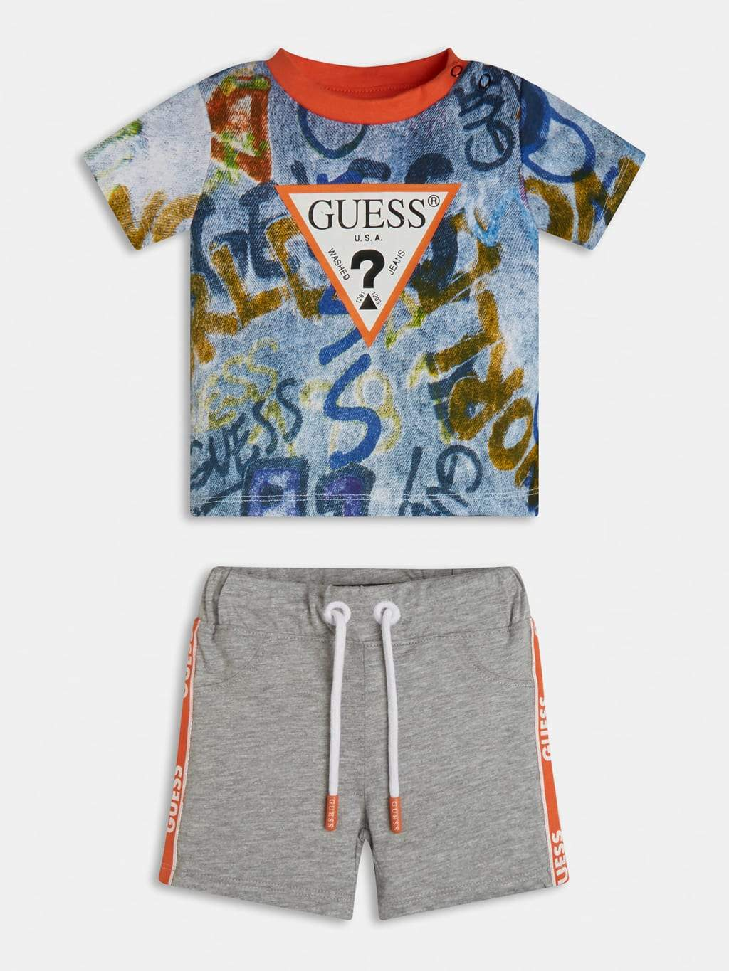 Guess Baby Boys Logo T-Shirt And Short Set Funky kids