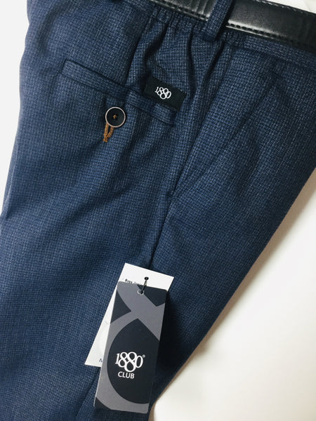 1880 CLUB BOYS CLASSIC BELTED NAVY TROUSERS MAGHERAFELT