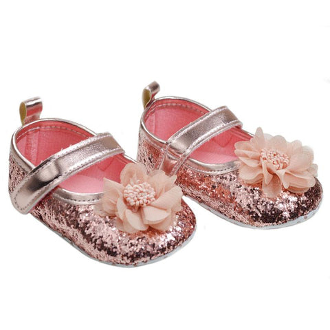Soft Touch Baby Rose gold shoes - Funky Kids Magherafelt