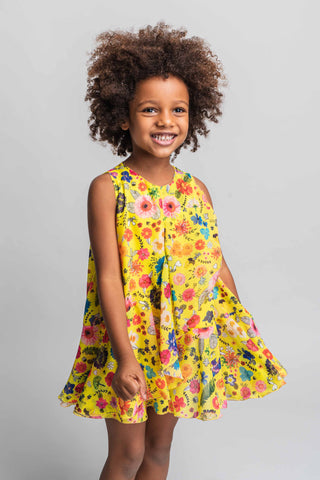 Rosalita Senoritas Girls Howland Floral Dress Funky kids