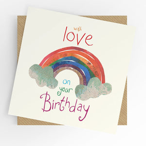Under The Willow Tree Rainbow Birthday Card Funky kids