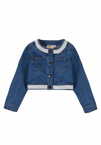 Ubs2 Girls Denim Jacket Funky Kids