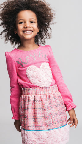 Rosalita Senoritas Girls Arco Pink Tweed Skirt  Funky kids Magherafelt