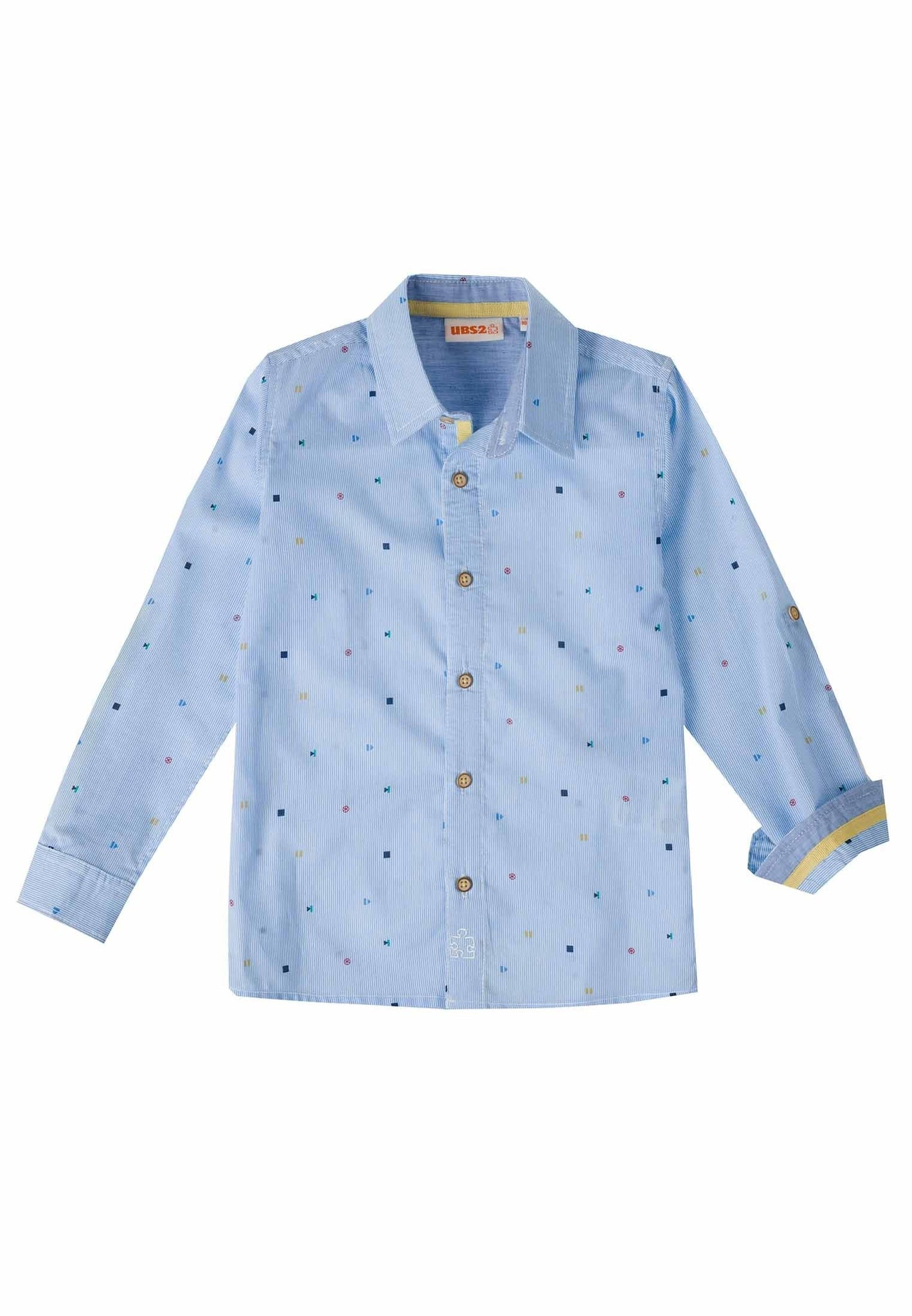Ubs2 Boys Light Blue Shirt Funky Kids