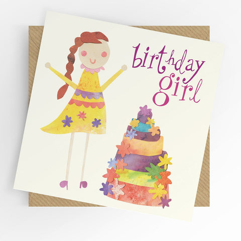 Under The Willow Tree Birthday Girl Card Funky kids