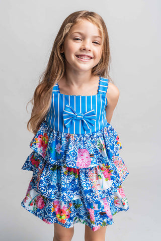 Rosalita Senoritas Waterway Girls Floral Dress Funky kids