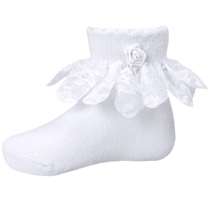 Soft Touch Girls White Socks - Funky kids Magherafelt