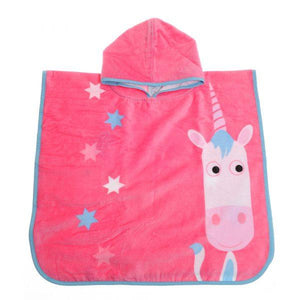 Ziggle Girls Eunice unicorn Large Swim Poncho Towel  Funky kids - Magherafelt