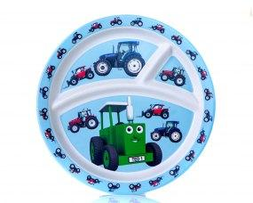 Tractor Ted Bamboo Divider Plate Tractor Funky Kids Magherafelt