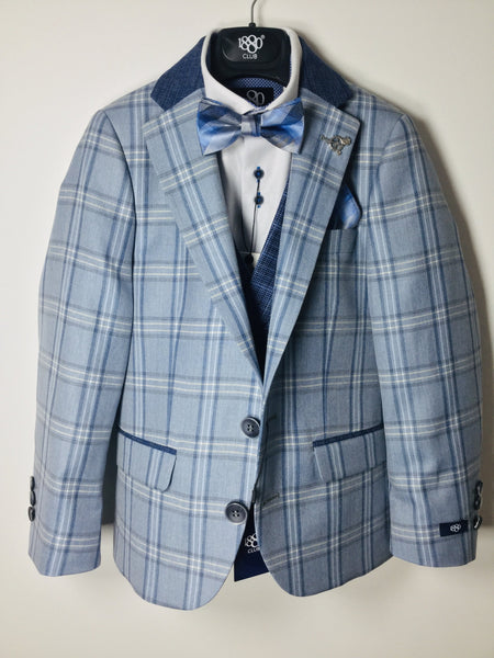 1880 CLUB BOYS NAVY/BLUE CHECK BLAZER Magherafelt