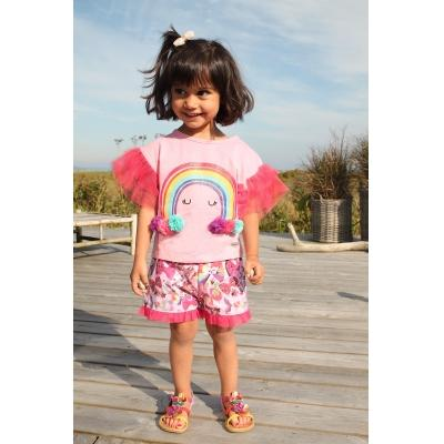 Happy Calegi Girls Rainbow Bow Tunic  Funky kids