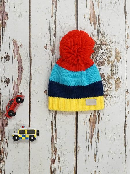 Blade & Rose Boys Bright Stripe Bobble Hat Funky kids Magherafelt