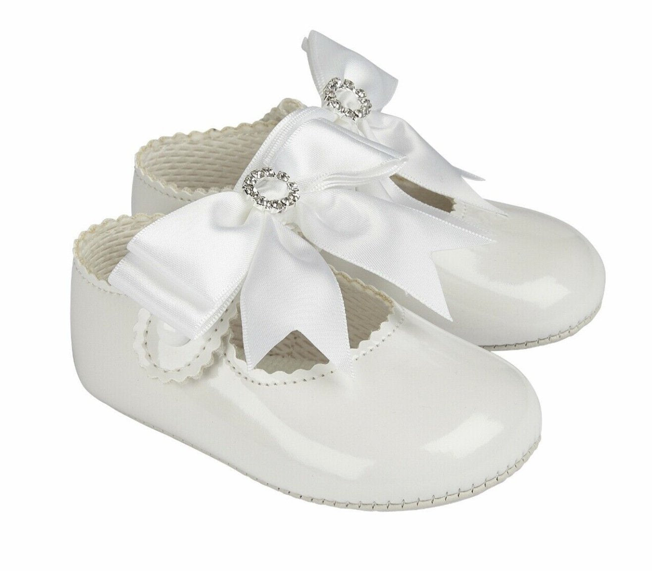 Baby Pods girls white shoes - Funky Kids Magherafelt