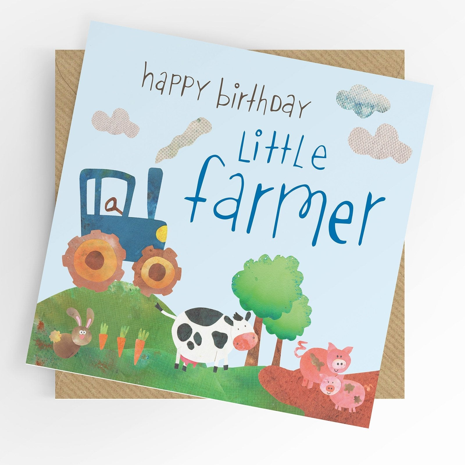 Under The Willow Little Farmer Birthday Card Funky kids