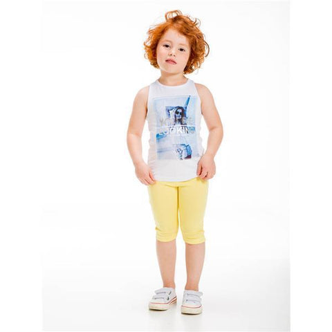 UBS2 GIRLS WHITE SLEEVELESS TOP